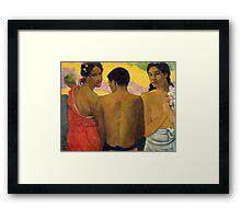 Paul Gauguin - Three Tahitians  Framed Print