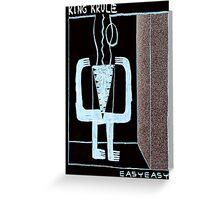 King Krule Easy Easy Greeting Card