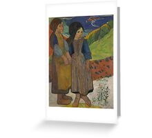 Paul Gauguin - Two Breton Girls by the Sea  Greeting Card