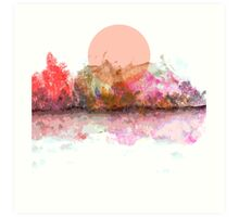 An Unusual Sunset Art Print