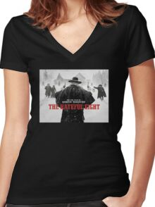 hateful eight Women's Fitted V-Neck T-Shirt