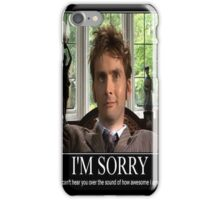 Doctor Who Awesome David Tennent iPhone Case/Skin