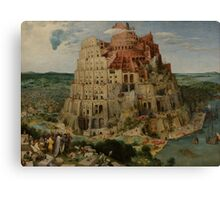 Pieter Bruegel the Elder  - The Tower of Babel  Canvas Print