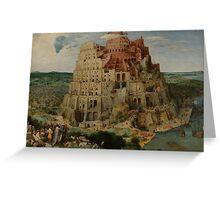 Pieter Bruegel the Elder  - The Tower of Babel  Greeting Card