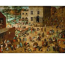 Pieter Bruegel the Elder - Children's Games  Photographic Print