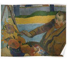Paul Gauguin - Vincent van Gogh painting sunflowers 1888 Poster