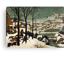 Pieter Bruegel the Elder - Hunters in the Snow Winter  Canvas Print