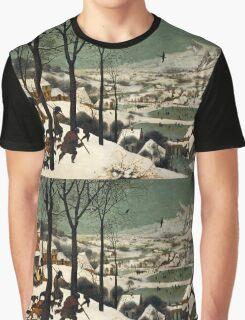 Pieter Bruegel the Elder - Hunters in the Snow Winter  Graphic T-Shirt