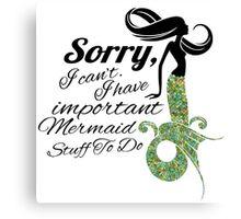 mermaid apologies Canvas Print