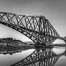 North Queensferry Reflections - B&W by Tom Gomez