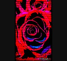 Red Graffiti rose on wall Unisex T-Shirt