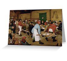 Pieter Bruegel the Elder - Peasant Wedding 1569 Greeting Card
