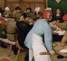 Pieter Bruegel the Elder - Peasant Wedding 1569 Sticker