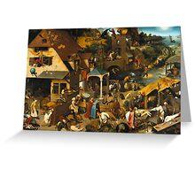 Pieter Bruegel the Elder - The Dutch Proverbs  Greeting Card