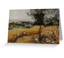 Pieter Bruegel the Elder - The Harvesters . Landscape , Autumn Greeting Card