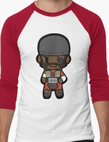 Chibi Demoman Men's Baseball ¾ T-Shirt