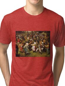 Pieter Bruegel the Elder - The Wedding Dance Tri-blend T-Shirt