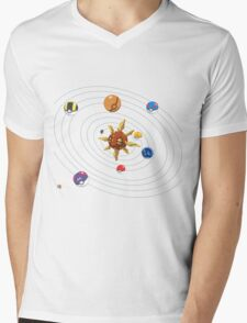 Poke System Mens V-Neck T-Shirt
