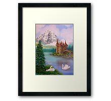Swan Castle Framed Print