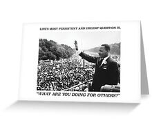 Martin Luther King, Jr. Picture and Quote Greeting Card