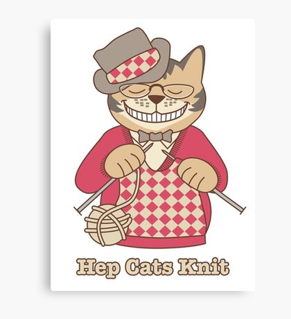 Hep Cats Knit Canvas Print