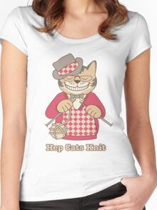 Hep Cats Knit Women's Fitted Scoop T-Shirt