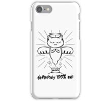 The Evil Cat Angel Print iPhone Case/Skin