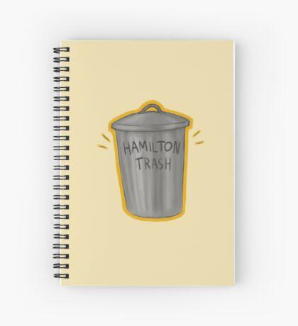 hamilton trash Spiral Notebook