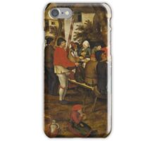 Pieter Brueghel the Younger - Peasant Wedding Feast  iPhone Case/Skin