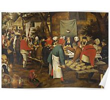 Pieter Brueghel the Younger - Peasant Wedding Feast 1630 Poster
