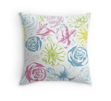 Elegance floral background Throw Pillow