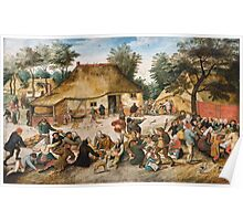 Pieter Brueghel the Younger - The Peasant Wedding Poster