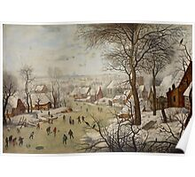 Pieter Brueghel the Younger - Winter Landscape with Bird-trap  Poster