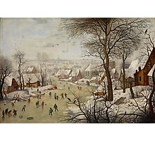 Pieter Brueghel the Younger - Winter Landscape with Bird-trap  Photographic Print