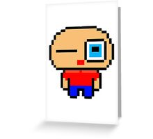 Cute pixel art man Greeting Card