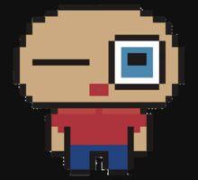 Cute pixel art man One Piece - Short Sleeve