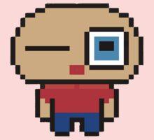 Cute pixel art man Kids Tee