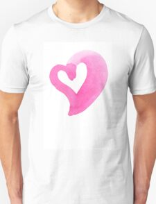 Watercolour heart isolated on white background T-Shirt