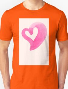 Watercolour heart isolated on white background Unisex T-Shirt
