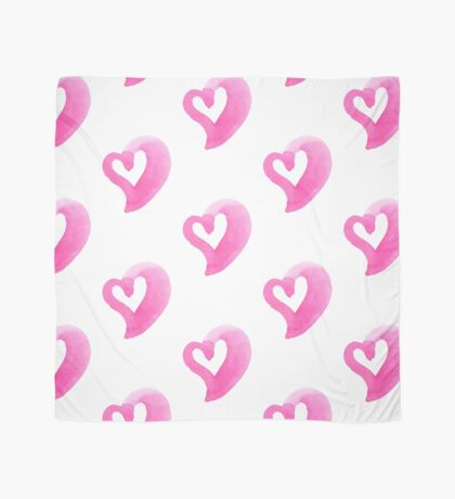 Watercolour heart isolated on white background Scarf