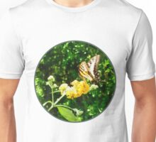 Yellow Swallowtail on Yellow Lantana Unisex T-Shirt
