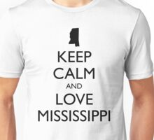 KEEP CALM and LOVE MISSISSIPPI Unisex T-Shirt