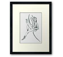 Female half-elf ranger with owl Framed Print