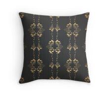 Damask vintage floral pattern Throw Pillow