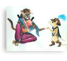 Catfolk Ninja with Ratfolk Swashbuckler Canvas Print