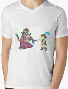 Catfolk Ninja with Ratfolk Swashbuckler Mens V-Neck T-Shirt