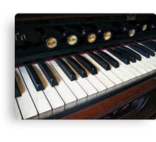 Organ Keyboard Closeup Canvas Print