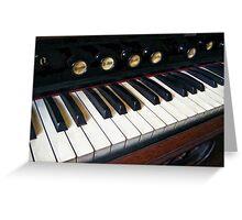 Organ Keyboard Closeup Greeting Card