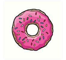 Simpsons Donut Art Print