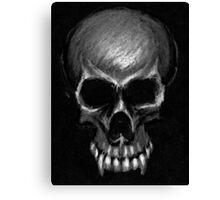 Greyscale vampire skull Canvas Print